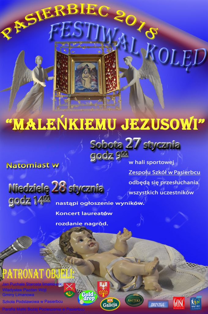 plakat festiwal kolęd pasierbiec2018 (1)