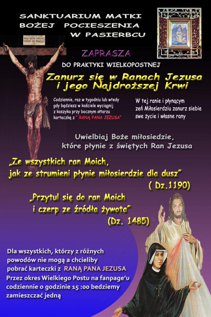 Plakat zanurz sie w Ranach Jezusa
